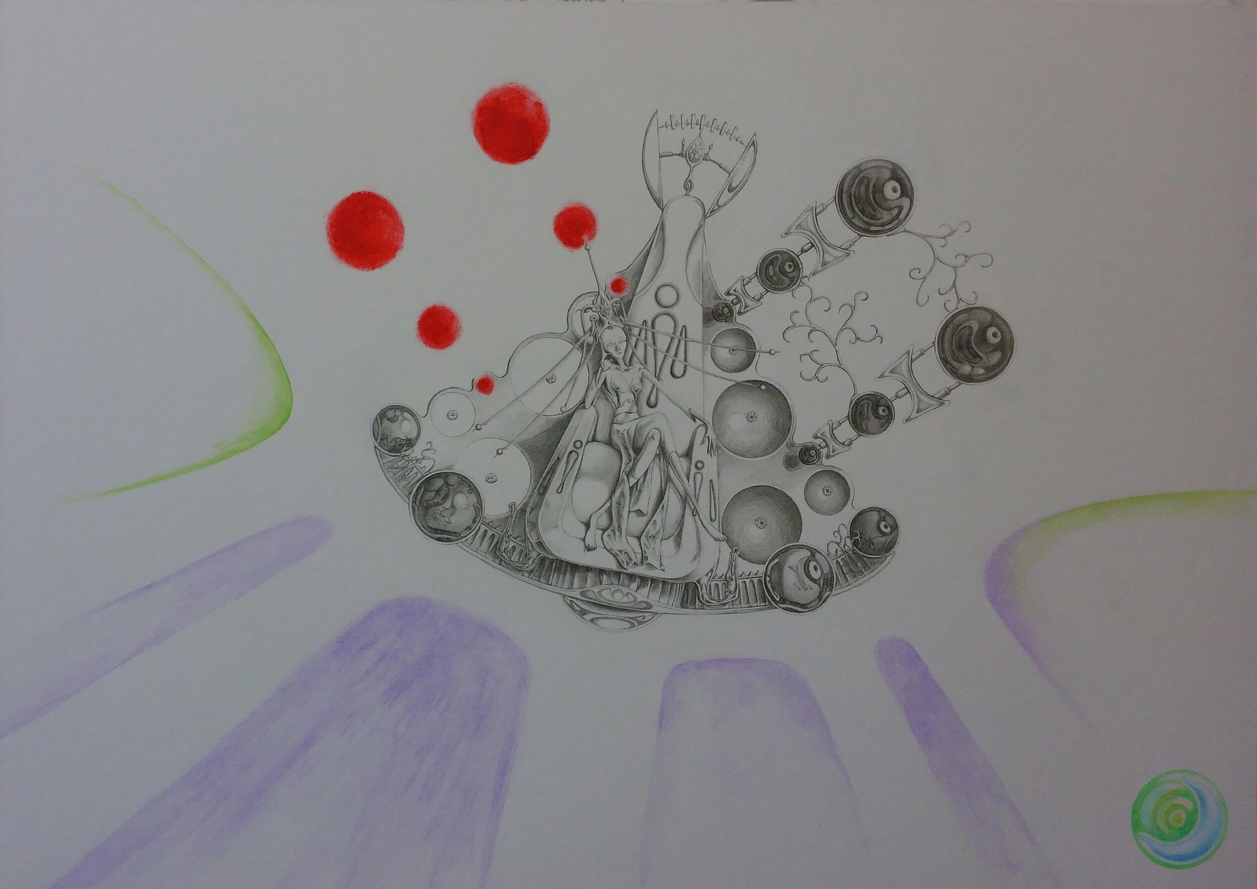 宮殿の浮遊玉座