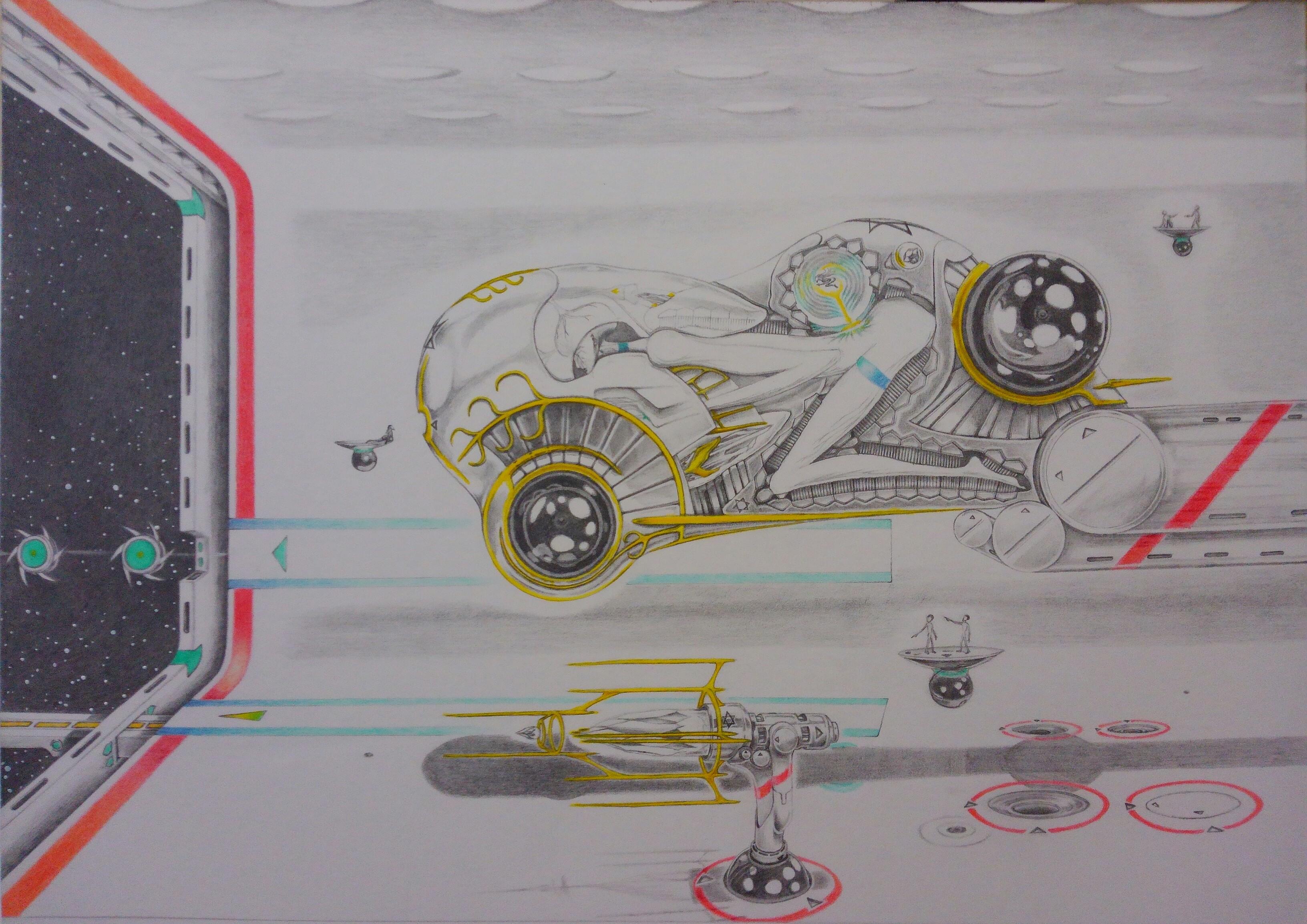 七歳の星クローン兵器専用 中距離移動用試作機 試運用発艦前準備