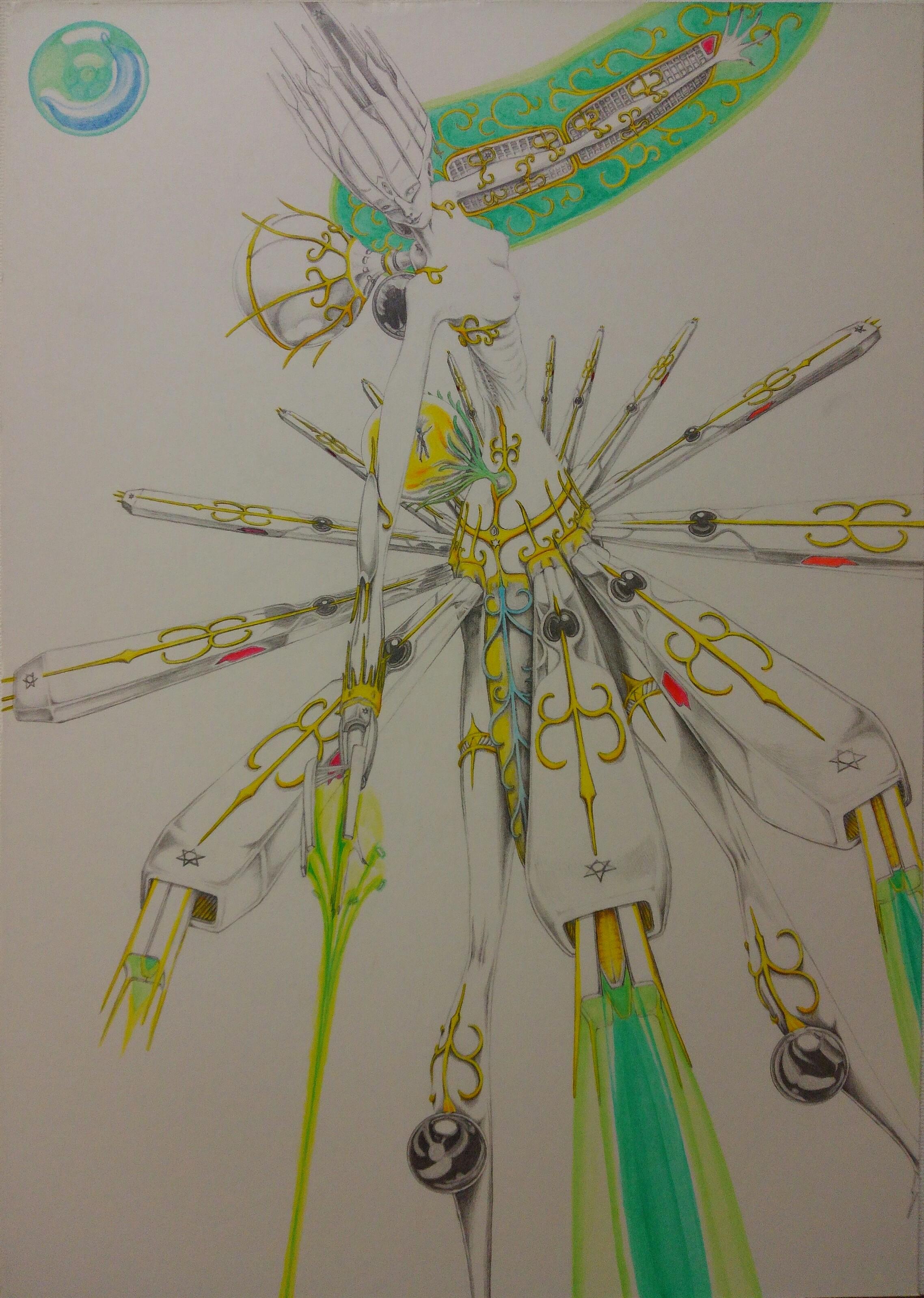 七歳の星クローン兵器 ビームキャノンスカート装備形態(試作開発中)